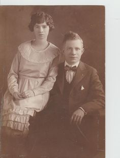Vintage Photograph Good Looking Couple by vintagepostexchange