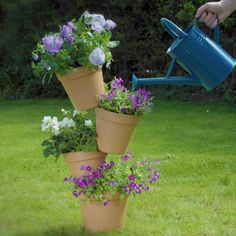 Garden Yard Ideas, Diy Garden Projects, Garden Crafts, Diy Garden Decor, Garden Pots, Garden Decorations, Patio Ideas, House Plants Decor, Plant Decor