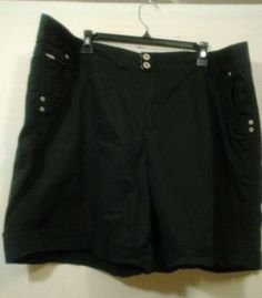 JMS Just My Size Plus Size 26W Black Shorts Casual Beach Work Summer Wear #JustMySize #CasualShorts