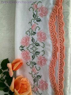 Vintage Fan Crochet Edging – A Free Pattern | The Purple Poncho