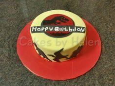 Jurassic Park Cake #redvelvetcake #dinosaurs #jurassicpark