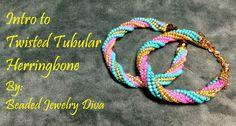 Twisted Tubular Herringbone Stitch Tutorial - Twisted Tubular Herringbon...