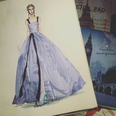 "788 Likes, 11 Comments - Eris Tran (@eris_tran) on Instagram: ""@heidiklum like an angel at oscars 2016 with @marchesafashion dress. So beautiful. #sketching…"""
