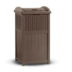 Suncast Resin Wicker Trash Hideaway-GHW1732 at The Home Depot $44.  Same one at Walmart for $39.00