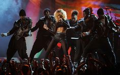 Rihanna at the Grammy's her outfit was HOTT!!!
