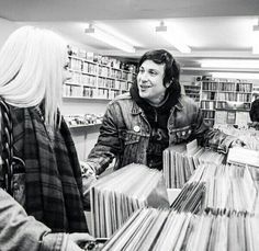 Imagine meeting him at a record store...
