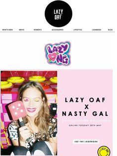Lazy Oaf x Nasty Gal Coming Soon... - Lazy Oaf