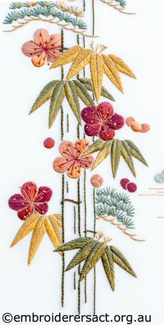 Wonderful Ribbon Embroidery Flowers by Hand Ideas. Enchanting Ribbon Embroidery Flowers by Hand Ideas. Crewel Embroidery Kits, Hardanger Embroidery, Learn Embroidery, Japanese Embroidery, Silk Ribbon Embroidery, Hand Embroidery Patterns, Embroidery Thread, Machine Embroidery Designs, Embroidery Supplies