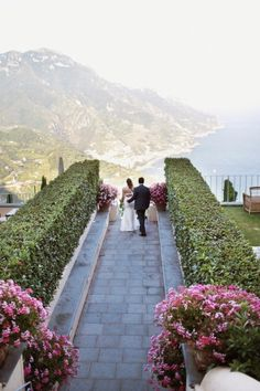 Destination wedding at the Hotel Caruso - located on the highest point of Ravello, overlooking the spectacular Amalfi Coast