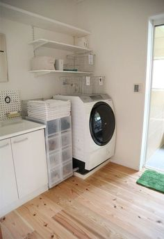 Optimize your small space & learn trick how to organize your dryer sheets, laundry room cabinet & other laundry room essentials Laundry Room Remodel, Laundry Room Cabinets, Laundry Appliances, Home Appliances, Small Room Interior, Muji Home, Japanese House, Room Essentials, Washroom