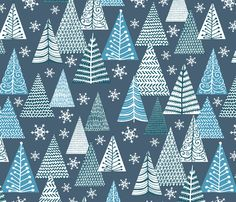 Winter Forest fabric by kezia on Spoonflower - custom fabric