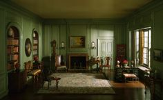 Thorne Rooms: English Library of the Queen Anne Period, 1702-50