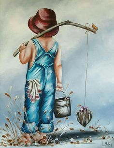 What is Your Painting Style? How do you find your own painting style? What is your painting style? Canvas Painting Quotes, Diy Canvas Art, Canvas Artwork, Spring Painting, Painting For Kids, Painting & Drawing, Boy Fishing, Pintura Country, Pictures To Paint