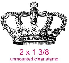 Majestic Victorian queen princess crown rubber by stampoutonline, $8.99