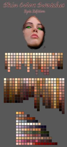 Skin-tone color swatches for Photoshop