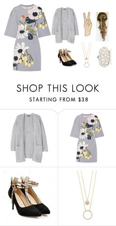 """Talk talk talk"" by simplicitx ❤ liked on Polyvore featuring MANGO, Marni, Kate Spade, Lucky Brand and Talk"