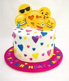 Emoji birthday cake More 10th Birthday Parties, Birthday Cake Girls, Birthday Cake Emoji, Birthday Ideas, Fete Marie, Party Mottos, Emoji Cake, Girl Cakes, Savoury Cake