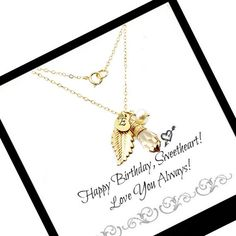 This gold #initial #necklace is perfect for everyday wear.  It makes a great gift for your loved ones. #birthdaygift #giftforher