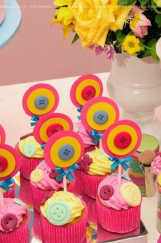 """Perfect for Ella's """"Cute as a Button"""" birthday party Lalaloopsy Party, Festa Party, Little Girl Birthday, 1st Birthday Parties, Birthday Ideas, Birthday Cake, Minnie, Party Planning, Party Time"""