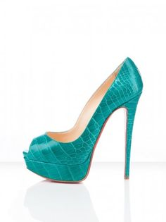 Christian Louboutin Shoes Lady Peep 150mm Jade..just love the color