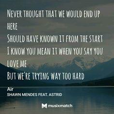Air// Shawn Mendes and Astrid