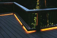 Deck rail lighting this would be really cool for the summertime and deck design ideas pictures and remodels workwithnaturefo