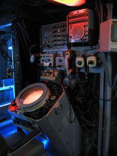 cyberpunk atmosphere, com station