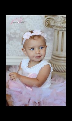 Sweet Pink Tutu Set for Baby Tutu Photo Props by StrawberrieRose, $68.95