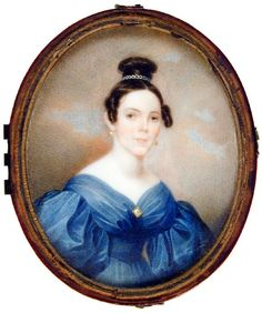 Miss Reynolds of Fenwick Hall  ca. 1835  Artist: Charles Fraser  watercolor on ivory  Gibbes Museum of Art