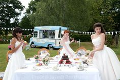 50's style Wedding Tea ( love the vintage ice cream van)!