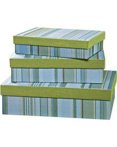 Set of 3 Fresca Rectangle Decorative Boxes