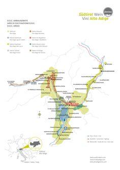 Die Weinanbaugebiete von #Südtirol im Überblick.