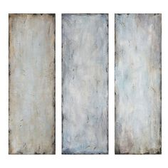 Uttermost 'Textured Trio' Abstract Wall Art (27.935 RUB) ❤ liked on Polyvore featuring home, home decor, wall art, art, backgrounds, back drops, bilder, filler, blue and abstract home decor
