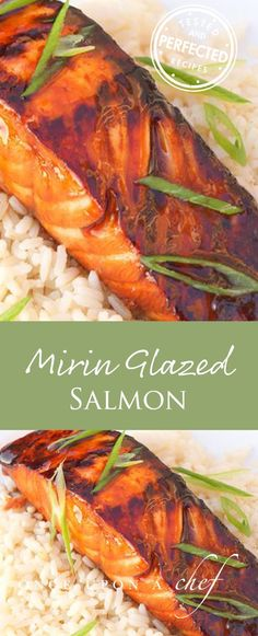 Mirin Glazed Salmon #salmonrecipe #salmon #mirin #healthy