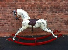 Vintage Haddon Rockers Fibreglass Bow Style Rocking Horse