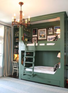 Green Bunk, Spool Chandelier