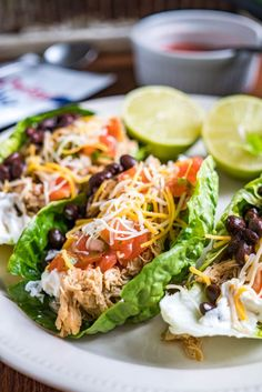 Low-Carb Shredded Chicken Tacos Low-Carb Shredded Chicken Tacos A quick easy and flavor-packed recipe for shredded chicken tacos Whole 30 Low-Carb LCHF Keto Gluten-Free Healthy Carb Free Recipes, Diet Recipes, Cooking Recipes, Carb Free Foods, Carb Free Dinners, Carb Free Snacks, Carb Free Diet, Recipies, Health Recipes