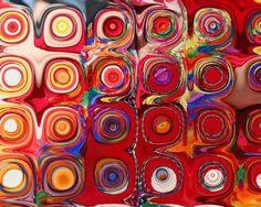 Kandinsky, handmade tag, progetto fai da te, etichette regali fatte a mano, riuso carta, astrattismo, mandala, diagramma buddista