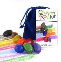 Crayon rocks - 8 steenkrijtjes in een blauw zakje