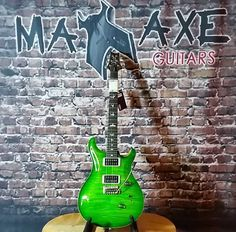 This domain may be for sale! Prs Guitar, Guitars For Sale, 10 Top, Emerald Green, Bass, Electric, Lowes, Double Bass