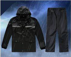55.00$  Watch here - http://aliawa.worldwells.pw/go.php?t=32596094314 - Reflective raincoat rain pants suit Fission leisure raincoat Fashion adult cycling outdoor night