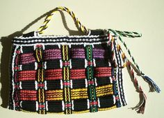 Hearts on Fibre: Woven Inkles. Making a bag from woven bands.