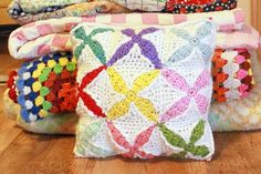 Quilt Inspired Square and Pillow by Tara Murray This pattern is available for free.