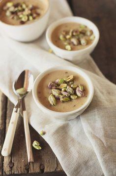 Pilzcrèmesuppe mit Pistazien