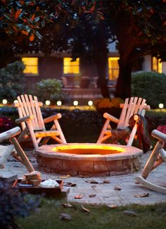 Home Depot Outdoor Decor - Includes instructions to make a stone fire pit.