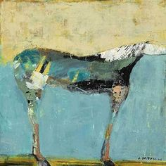 """Desert King by Dominique Samyn Print on wood (Giclee) with layer of resin ~ 12"""" x 12"""""""