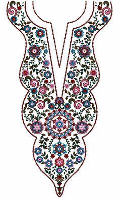 9429 Neck Embroidery Design