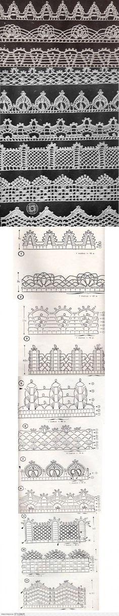 Häkelschrift Borten