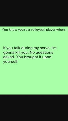 Volleyball things