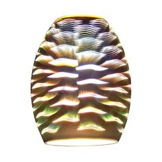 Wave Oblong Art Glass Shade | GL1034-W | Destination Lighting